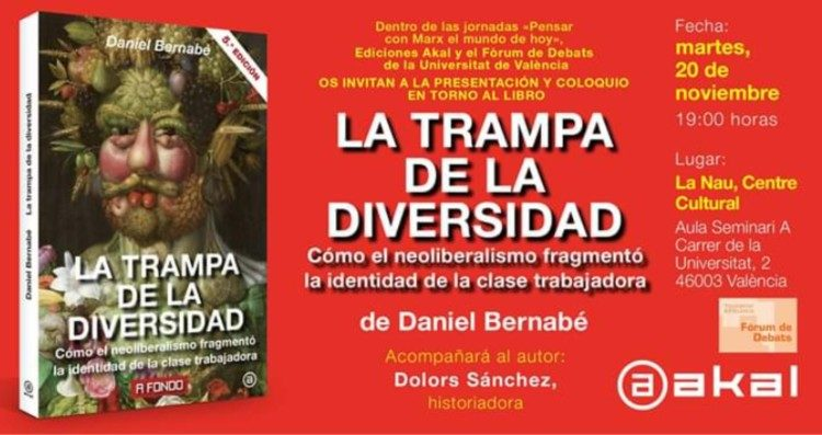 """Presentación y coloquio en torno al libro """"La trampa de la diversidad"""""""