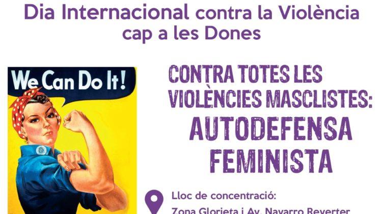 Día Internacional contra la violència cap a les Dones. Manifestaciò